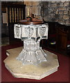 SD7849 : Font, St Peter and St Paul's church, Bolton-by-Bowland by Bill Harrison