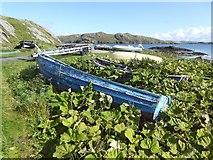 NB0936 : Derelict boat at Bhaltos by Oliver Dixon