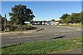 SP2764 : Illegal encampment by travellers, off Hampton Road, southwest Warwick by Robin Stott
