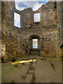 HU4039 : Scalloway Castle, the First Floor by David Dixon