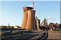 SE9109 : Appleby Frodingham Steelworks - blast furnace complex by Chris Allen