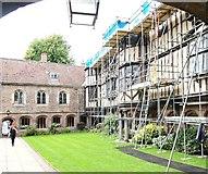 TL4458 : Cloister Court, Queens' College, Cambridge by David Hallam-Jones