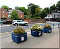 SO3013 : Abergavenny in Bloom tubs by Jaggery