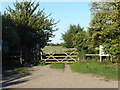 TM0207 : The start of the path to St Peter-on-the-Wall, Bradwell-on-Sea by Marathon