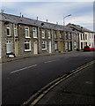 SS9398 : Row of stone houses, Wyndham Street, Tynewydd by Jaggery