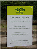 TL8425 : Marks Hall sign by Adrian Cable