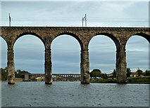 NT9953 : Through The Royal Border Bridge by Mary and Angus Hogg