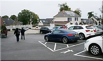 NJ3558 : Car park, Christies Garden Centre, Fochabers by Richard Sutcliffe
