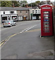 SO2914 : Grade II listed red phonebox, Brecon Road, Abergavenny by Jaggery