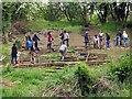 SP5405 : Volunteers replacing some steps in Lye Valley Nature Reserve by Steve Daniels