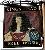 SO2914 : Kings Head name sign, Cross Street, Abergavenny by Jaggery