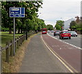 TQ1568 : Part-time bus lane, Hampton Court Road, East Molesey by Jaggery