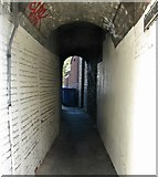TG2309 : Passage from Magdalen Street into Thoroughfare Yard by Evelyn Simak