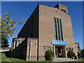 SU1431 : St Francis, Salisbury - west end by Stephen Craven