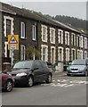 SS9795 : Warning sign - School/Ysgol, Bailey Street, Ton Pentre by Jaggery