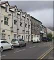SS9795 : Ystrad Road flats and satellite dishes, Pentre by Jaggery