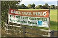 "NZ3861 : ""Save this Field"" banner, Cleadon by Graham Robson"