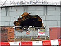 NY4055 : There's a big hole in the gas holder by Rose and Trev Clough