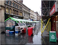 ST3188 : Temporary stalls, High Street, Newport by Jaggery