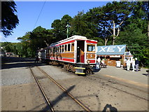 SC4384 : Car 5 and trailer at Laxey by Dr Neil Clifton