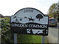 SJ4304 : Village sign at Longden Common by Jeremy Bolwell