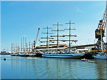 NZ4057 : Tall ships at Sunderland, 2018 by Rose and Trev Clough