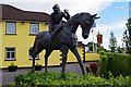 S7277 : Carlow Guesthouse (3) - sculpture, Green Lane, Carlow by P L Chadwick