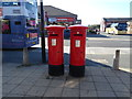 SD9005 : Pair of Elizabeth II postboxes outside Post Office on Middleton Road, Chadderton by JThomas