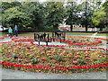TM5494 : Memorial seats in Belle Vue Park, Lowestoft by Adrian S Pye