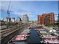 TQ2983 : Canal Basin at St Pancras Lock by John Sutton