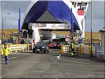 HU4679 : MV Dagalien at Ulsta by David Dixon