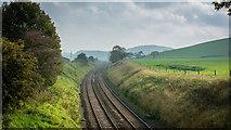 SD8656 : Railway east of Hellifield by Peter Moore