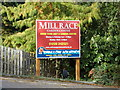 TL9126 : Mill Race Nursery sign by Adrian Cable