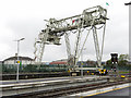 R5856 : Container terminal gantry, Limerick by Gareth James
