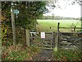 SS8420 : Bridleway sign and gate by Roger Cornfoot