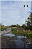TA1342 : Bend on Whins Lane, Long Riston by Paul Harrop
