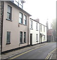 ST3490 : High Street houses and a church, Caerleon by Jaggery