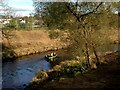 H4572 : Small boat along the Drumragh River, Omagh by Kenneth  Allen