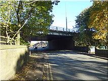SD9311 : M62 Motorway bridge over Newhey Road by JThomas