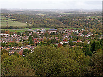 SO8483 : Kinver, seen from Kinver Edge in Staffordshire by Roger  Kidd