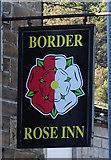 SD9321 : Sign for the Border Rose Inn, Walsden by JThomas