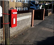 ST3090 : Newly painted postbox on a Malpas corner, Newport by Jaggery