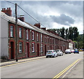ST1888 : Row of houses, Navigation Street, Trethomas by Jaggery