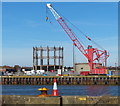 TG5206 : Crane next to the River Yare by Mat Fascione