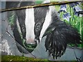 NS5965 : Badger mural by Richard Sutcliffe