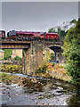 SD7915 : Duchess of Sutherland at Brooksbottoms Viaduct by David Dixon