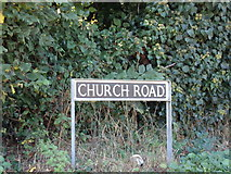 TM4098 : Church Road sign by Adrian Cable
