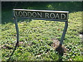 TM4098 : Loddon Road sign by Adrian Cable