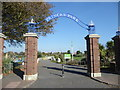 TQ6200 : The entrance to Princes Park, Eastbourne by Marathon
