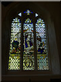 SU1529 : St Martin's church - Nativity window by Stephen Craven